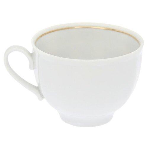 Дулёвский фарфор Чашка чайная Гранатовый Отводка золотом 275 мл
