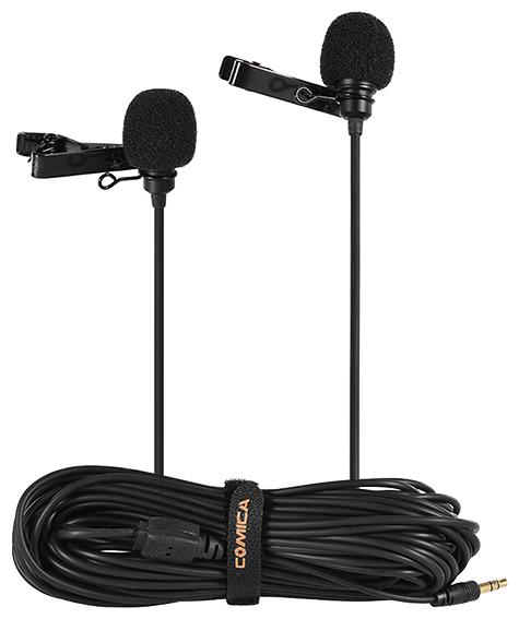 Петличный микрофон двойной CVM-D02 (B6.0m)