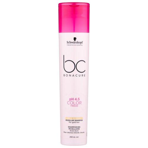 Шампунь BC Bonacure мицеллярный pH 4.5 Color Freeze Gold Shimmer, 250 мл шампунь bonacure color freeze купить