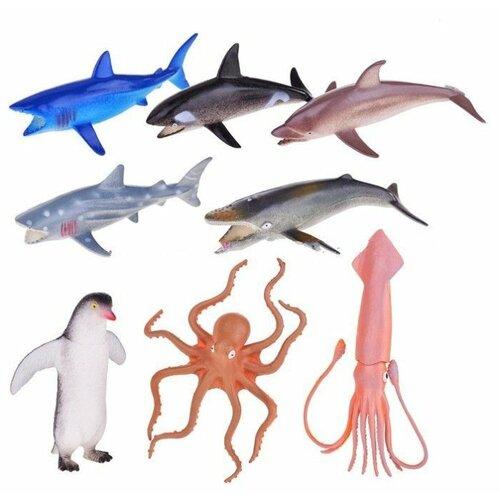 Фигурки 1 TOY В мире животных Морские обитатели Т58805 lisciani ludattica паззл 8 1 морские обитатели 8 в 1