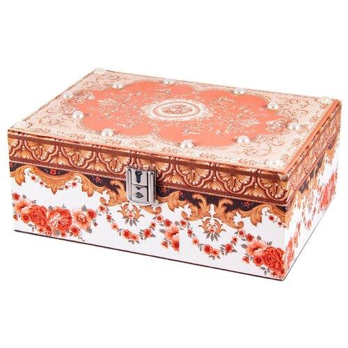 Русские подарки Шкатулка для ювелирных украшений 84334 красный