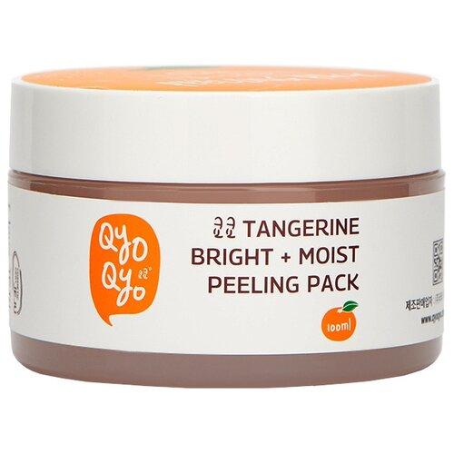 QyoQyo пилинг-скраб Tangerine Bright + Moist Peeling Pack 100 мл qyoqyo тонер tangerine bright moist 120 мл