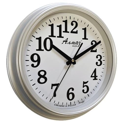 Часы настенные кварцевые Алмаз A14 белый перламутр