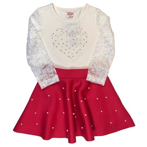 Купить Комплект одежды TEO & NIK размер 98, белый/красный, Комплекты и форма