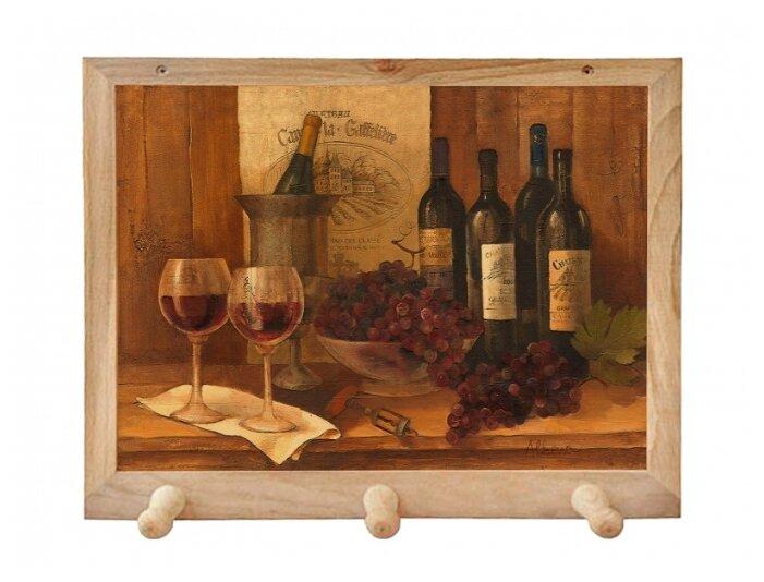 Вешалка Gift'n'Home для полотенец Винтажные вина 3 крючка