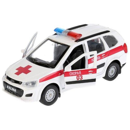 Купить Легковой автомобиль ТЕХНОПАРК Lada Kalina Cross (SB-16-46-A-WB) 12 см белый, Машинки и техника