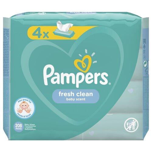 Купить Влажные салфетки Pampers Fresh Clean 208 шт.