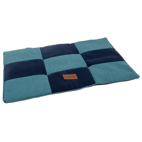 Фото - Лежак для собак и кошек Katsu Kern S 75х50 см синий/голубой домик для собак и кошек katsu patchwork s 30х30х16 см лиловый