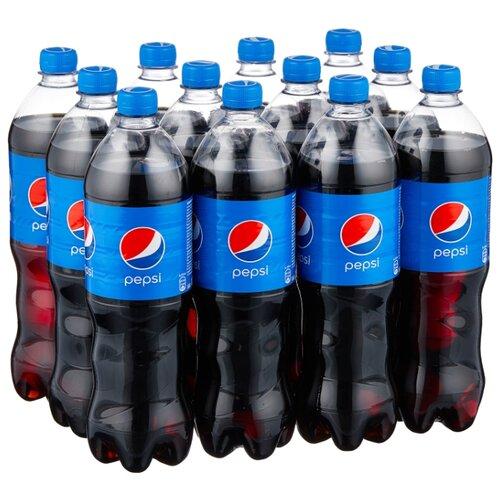Газированный напиток Pepsi, 1 л, 12 шт. газированный напиток мингаз лимонад 0 5 л 12 шт