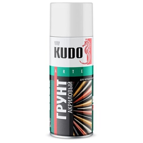 Грунтовка KUDO KU-210x акриловая универсальная для черных и цветных металлов (0.52 л) белый