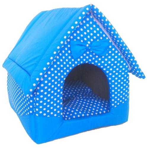 Домик для кошек, для собак LOORI Нежность Z2139 34х34х37 см синийЛежаки, домики, спальные места<br>
