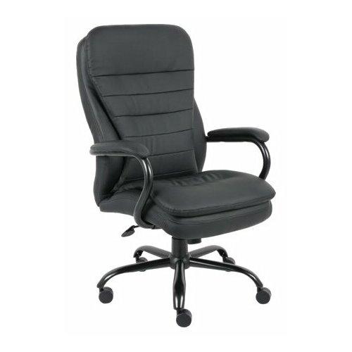 Компьютерное кресло Brabix Heavy Duty HD-001 для руководителя, обивка: искусственная кожа, цвет: черный компьютерное кресло brabix nitro gm 001 игровое обивка искусственная кожа цвет черный