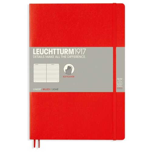 Блокнот Leuchtturm1917 349306 (красный) B5, 60 листов