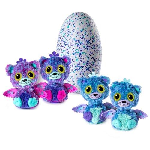 Купить Интерактивная мягкая игрушка Hatchimals Surprise Twins - Peacat 19110-PURP, Роботы и трансформеры