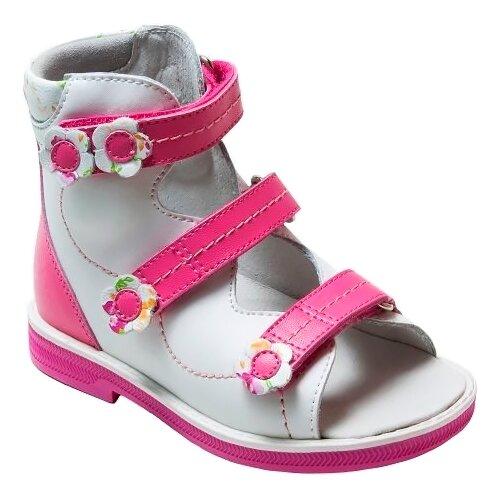 Сандалии Orthoboom размер 24, белый/розовыйБосоножки, сандалии<br>