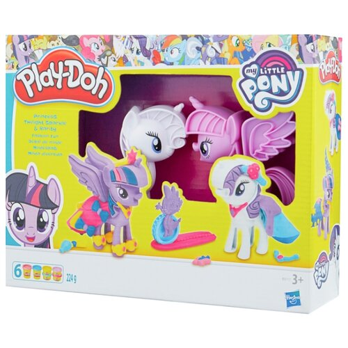 Масса для лепки Play-Doh Принцесса Твайлат Спаркл и Рарити: модное развлечение (B9717)