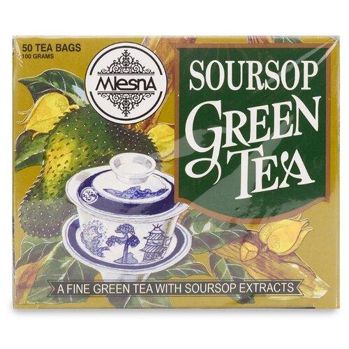 Чай зеленый Mlesna Soursop в пакетиках, 50 шт. чай зеленый императорский чай collection china yunnan в пакетиках 500 шт