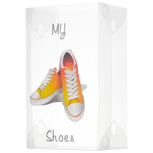 Фото - Рыжий кот Коробка для обуви SB6 13x33x20 см белый коробка рыжий кот 33х20х13см 8 5л д хранения обуви пластик с крышкой