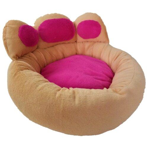 Лежак для кошек, для собак LOORI Лапа Z1941 53х53х35 см бежевый
