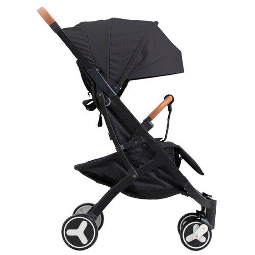 Прогулочная коляска Yoya Plus 3 (дожд., москит., подстак., бампер, сумка-чехол, бамбук. коврик, корзина д/пок, ремешок на руку, накидка на ножки) black/black frame, цвет шасси: черный