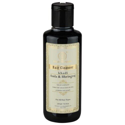 Khadi Natural шампунь для восстановления волос Амла и Брингарадж 210 мл масло для волос хна розмарин амла indian khadi 200 мл