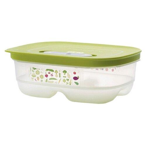 """Tupperware Контейнер """"Умный холодильник"""" 800 мл прозрачный/зеленый"""