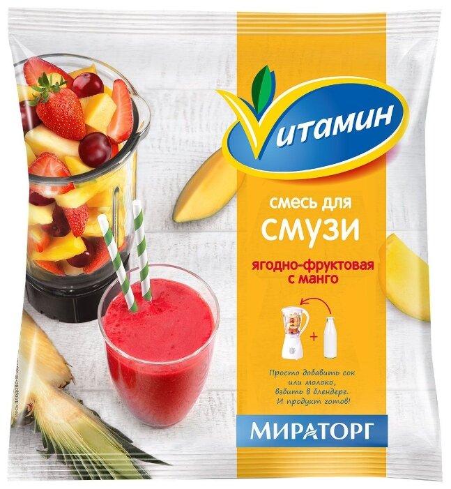 Vитамин Смесь для смузи ягодно-фруктовая с манго замороженная 300 г