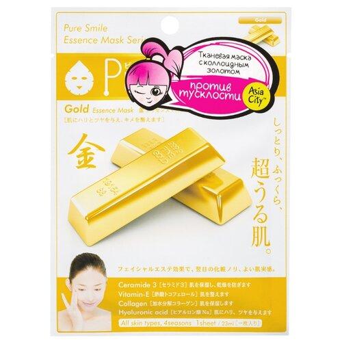 Sun Smile Pure Smile Essence Mask антиоксидантная маска с коллоидным золотом, 23 мл