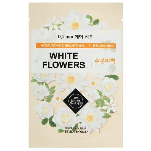 Etude House тканевая маска 0.2 Therapy Air Mask White Flowers с экстрактом белых цветов, 20 мл цена 2017