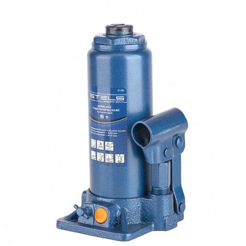 Домкрат бутылочный гидравлический Stels 51103 (6 т) синий