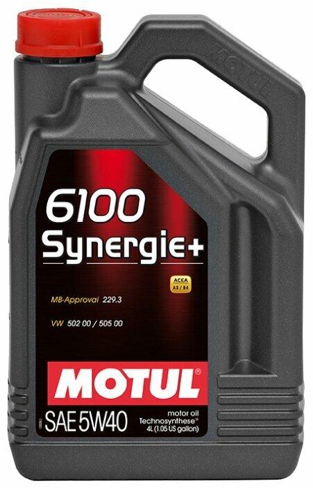 Моторное масло Motul 6100 Synergie+ 5W40 4 л — купить по выгодной цене на Яндекс.Маркете