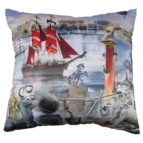 Подушка декоративная Gift'n'Home Алые паруса 35х35 см (PLW-35 АП) серый / красный махаон алые паруса а грин machaon