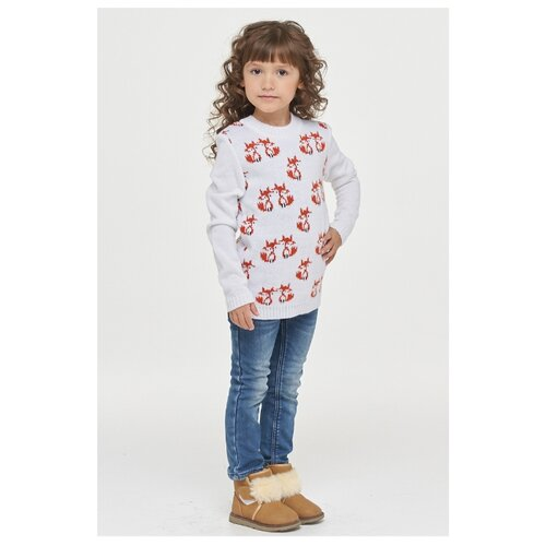 Купить Джемпер Веснушки размер 104, белый, Свитеры и кардиганы