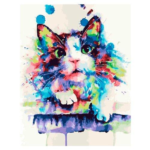 Фото - ВанГогВоМне Картина по номерам Радужный котик, 40х50 см (ZX 20853) вангогвомне картина по номерам любовь к кофе 40х50 см zx 22277