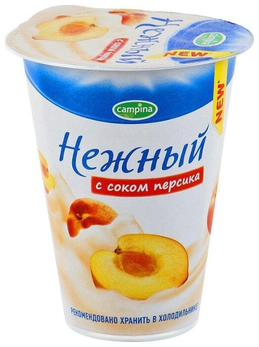 Йогуртный продукт Campina нежный с соком персика 1.2%, 320 г