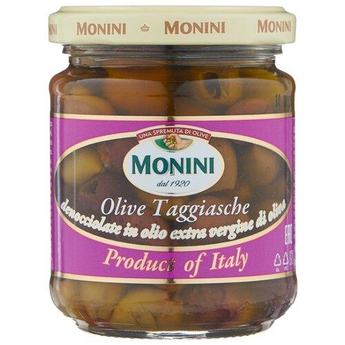 Monini Оливки Taggiasche без косточки в оливковом масле, стеклянная банка 180 г