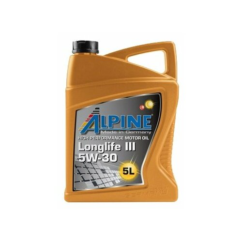 Синтетическое моторное масло ALPINE Longlife III 5W-30, 5 л