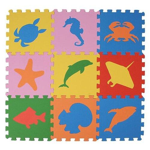 Купить Коврик-пазл ЭкоПолимеры Морские животные (33МП1/МЖ), Игровые коврики