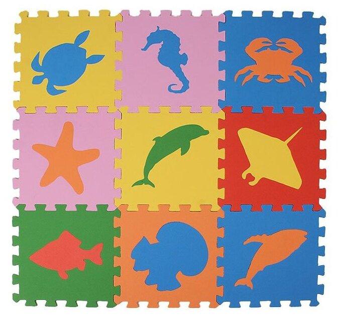 Коврик-пазл ЭкоПолимеры Морские животные (33МП1/МЖ)