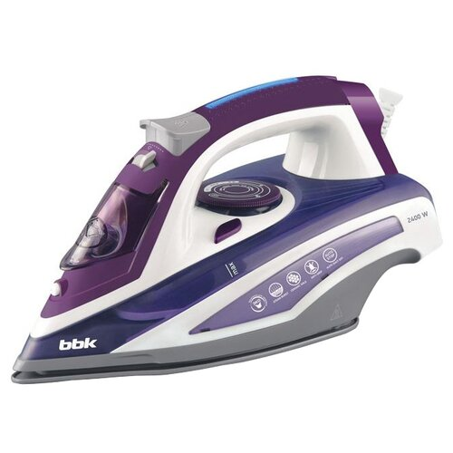 Утюг BBK ISE-2404 фиолетовый/белый