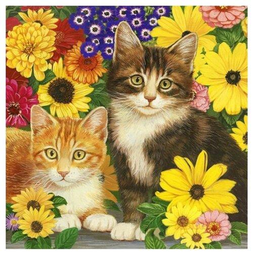 Фото - Рыжий кот Картина по номерам Пушистые котята в цветах 40x50 см (ХК-7885) коробка рыжий кот 33х20х13см 8 5л д хранения обуви пластик с крышкой