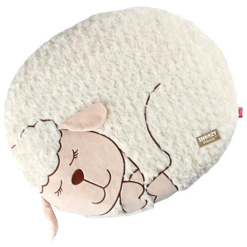 Фото - Лежак для собак и кошек GiGwi Snoozy Friendz Овечка 57х40х6.4 см белый лежак для собак и кошек gigwi snoozy friendz кот 57х57х4 см серый