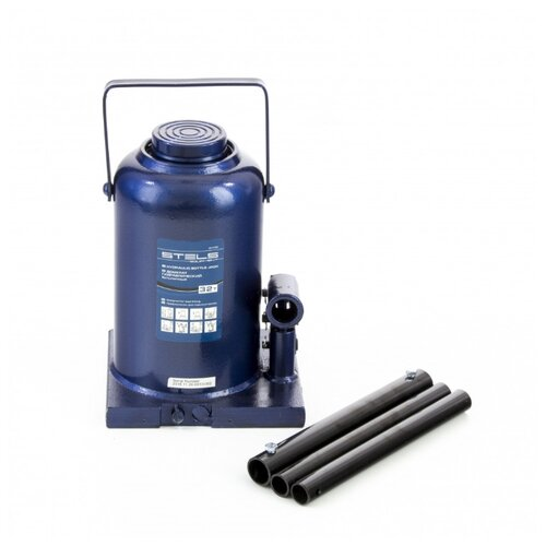 Домкрат бутылочный гидравлический Stels 51170 (32 т) синий