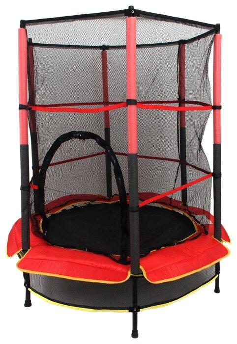 Каркасный батут SILAPRO с сеткой, 140х145 см, до 45 кг, от 3 до 6 лет, YH-D007 140х140х145 см красный