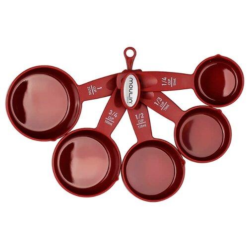 MOULIN VILLA Набор мерных ложек Cherry (C-5MCu) (5 предметов) бордовый
