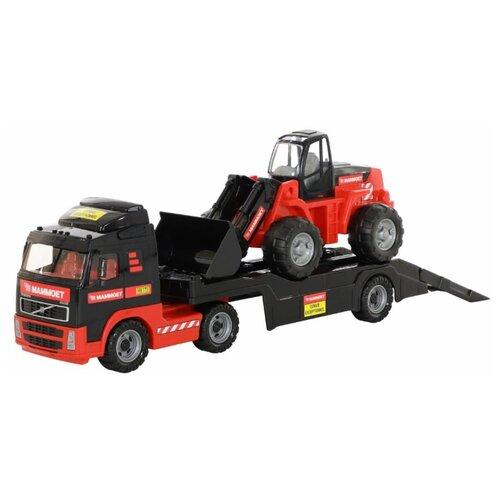 Набор техники Полесье Mammoet Volvo в коробке (56825) черный/красный набор машин полесье трейлер и трактор погрузчик mammoet volvo 204 03 57105 черный красный