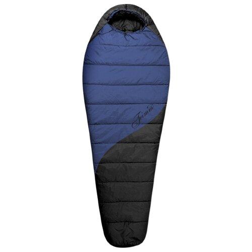 Спальный мешок TRIMM Balance 195 синий/черный с левой стороны