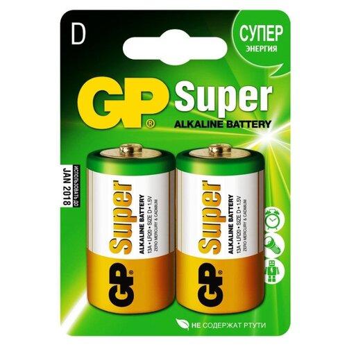 Фото - Батарейка GP Super Alkaline D 2 шт блистер батарейки gp super alkaline lr03 30 шт gp 24a b30