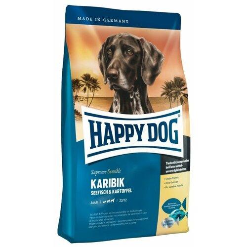 Фото - Сухой корм для собак Happy Dog Supreme Sensible Karibik для здоровья кожи и шерсти 4 кг сухой корм happy dog supreme sensible adult 11kg irland salmon