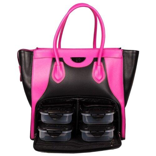 Six Pack Fitness Женская сумка Victoria Elite Tote черный/розовый 26 л